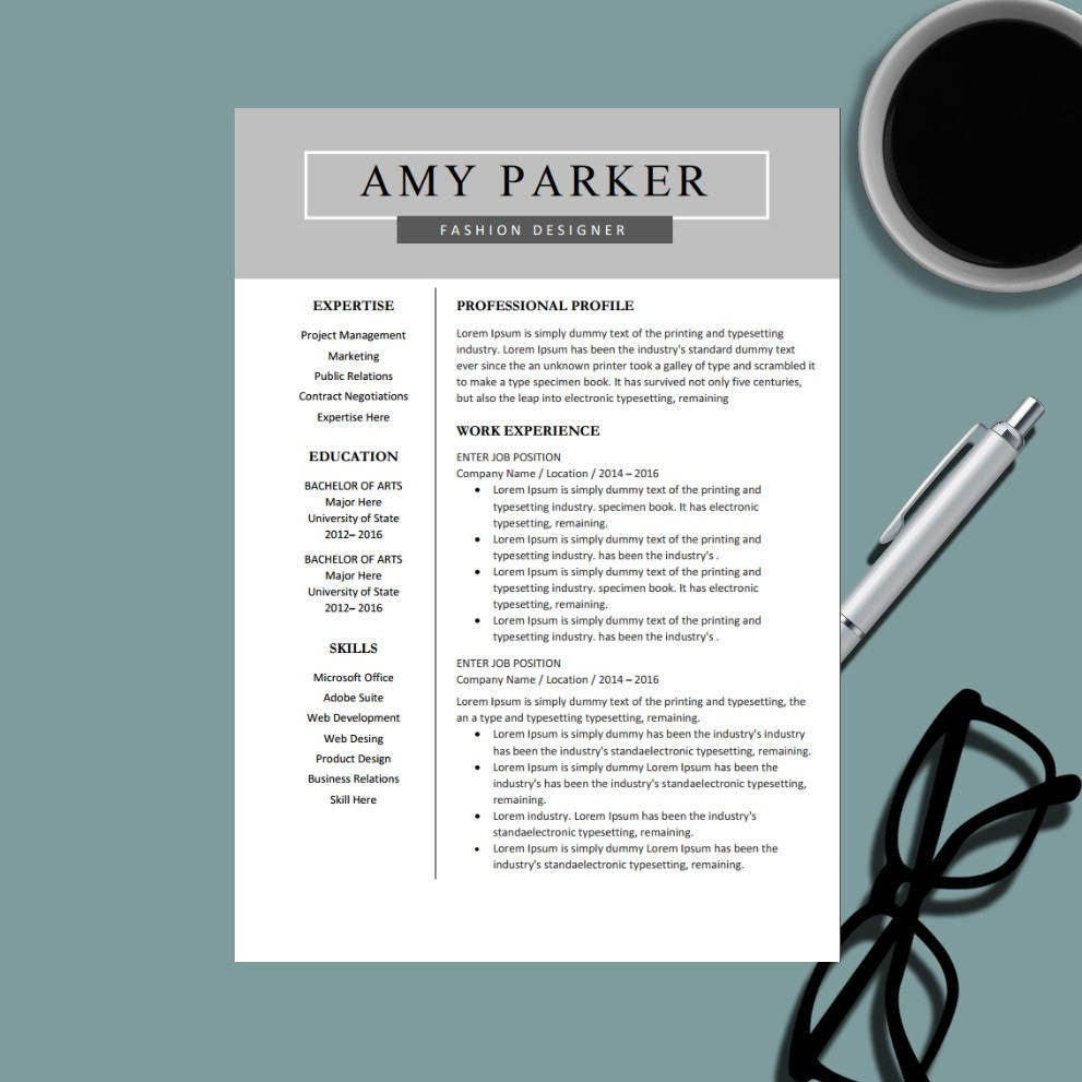 Creative Professional Resume Template For Ms Word Modern