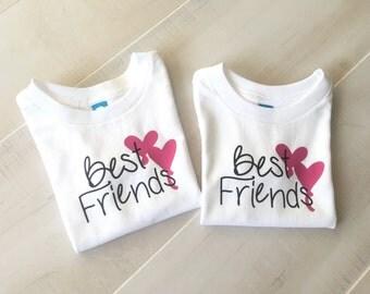 Best Friends Shirt, Girls Best Friends Shirts, Mommy and Me Best Friends Shirts, Little Sister Big Sister Shirts, Bestie Shirts, BFF Shirts