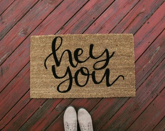 Hey You Coir Doormat