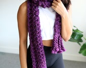 The XL Scarf in Purple - 2017 Winter Collection
