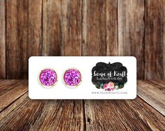 "Custom Mini Earring Cards | Jewelry Display Cards | Stud Earring Cards | Set of 110 2.5x1"" Earring Cards"