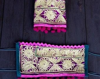 "Ethnic cuffs, boho, tribal, ""one of a kind"", handmade"