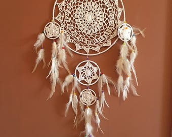 "12"" Dreamcatcher,Crochet Web,Large Dream Catcher,Reiki Charged, Legend, Native, Hand Wrapped,Dreamcatcher, Energy Healing, Protection"