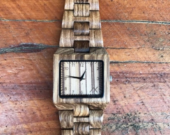 Mens Wood Watch With Custom Engraving, Wooden Watch for Him, Gift for Him, Mens Wood Watch, Wooden Watch, Wedding Gift, Mens Wrist Watch
