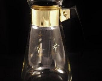 Vintage Corning Starburst Six (6) Cups Coffee Pot