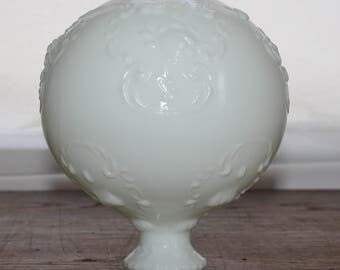 Vintage Milk Glass Hurricane Lamp Globe Shade