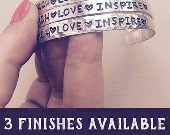 Birthday Gifts For Teachers, Teach Love Inspire, Teacher Appreciation Week, Teacher Bracelet, Back To School Gifts For Teachers under 10