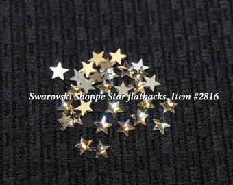 Swarovski Star Flatbacks. Item #2816. Crystal Clear only. Swarovski Crystal Star flatbacks.