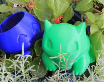 LARGE Pokemon Planter Combo - Oddish and Bulbasaur Planter Combination Package - Catch your own 3d printed Pokemon planter