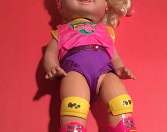 Vintage Tyco Rollerblading Doll