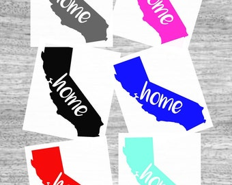 California Car Decal - State Decal - Home State Window Sticker - Laptop Sticker