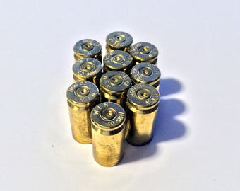 Empty Bullet Casing, 40mm, Expended Brass, Fired Bullets, Set of 10, Steampunk Jewelry Supply