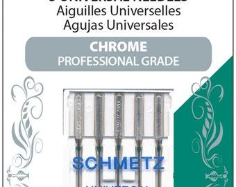 Schmetz Universal Chrome Professional Grade Sewing Machine Needles - 5 pack; 70/10; MPN 4008; DSM Needles; Chrome Sewing Needles