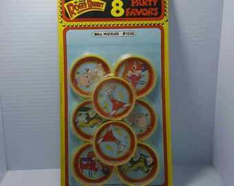 Who Framed Roger Rabbit Ball Puzzle Party Favors 8 Pack - 1987