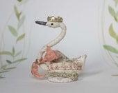 Valentine Special Nostalgic Spun Cotton swan Amor Ornament  Filasophie