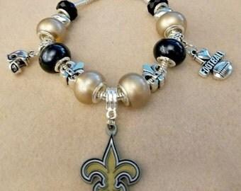 New Orleans Saints European Charm Bracelet