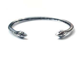 Snake Bracelet Snake Bangle Ouroboros Bracelet Witchy Bracelet Serpent Cuff Boho Grunge Jewelry Nugoth Silver Snake Jewelry Boho Bracelet
