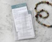 Prayer Bead Prayer Cards (set of 5)