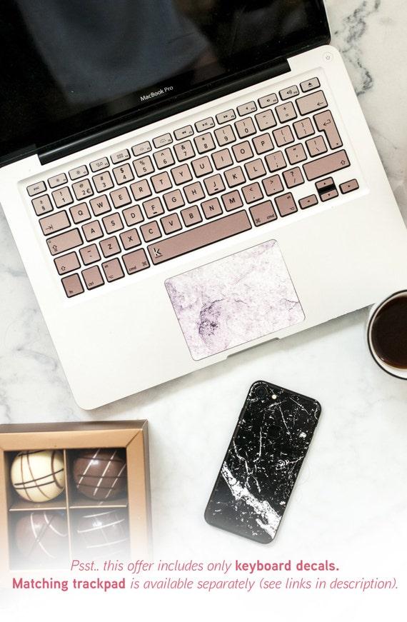 macbook decal keyboard rose gold ombre color macbook stickers. Black Bedroom Furniture Sets. Home Design Ideas