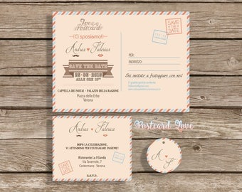 Wedding card | Wedding invitation | POSTCARD LOVE
