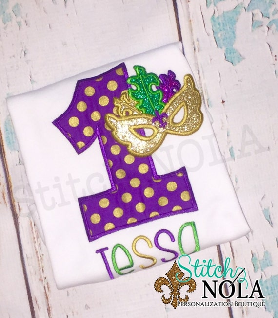 Mardi Gras Birthday Shirt
