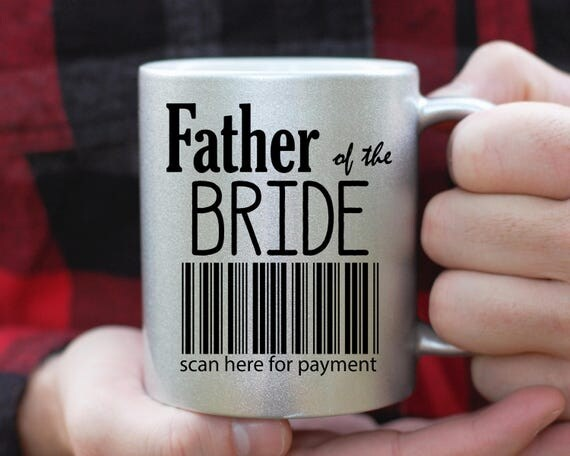 Father of The Bride Mug Set, Scan Here For Payment, Father of The Bride Gift, Parents Thank You Gift, Parents Wedding Mug, Parents Weding