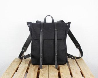 Black backpack | Etsy