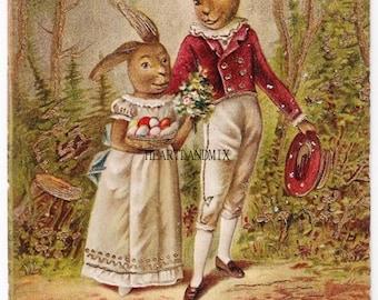 Vintage Easter Postcards Download Printable Art Image