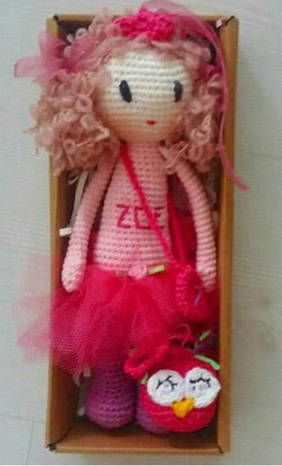 handmade crochet doll Zoe made in Turkey