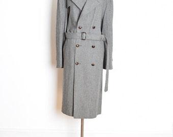 christian dior coat, 80s dior coat, vintage 80s coat, dior trench coat, gray wool coat, 1980s 80s clothing, dior jacket, 80s jacket, XL