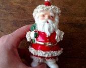 1950's Napco Santa Claus Bone China Figurine/Planter. Made in Japan. National Potteries Corporation.