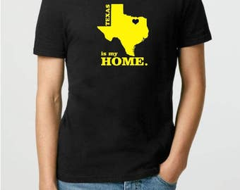 Custom Home Location State Home T-shirt - California Is My Home t shirt - Personalized t shirt - Adult Unisex T Shirts - 50 States T-Shirt