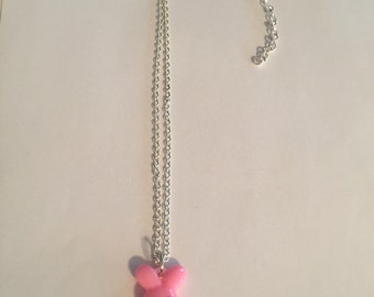 Cute Pink Bunny Necklace!