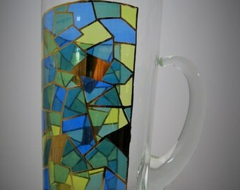 Geometric Stained Glass Pitcher