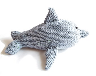 Squeak the Knit Dolphin, Babyswag, Baby Gift, Stuffed Animal, Shower Gift, toddler toy, plush dolphin, cute dolphin, dolphin softie