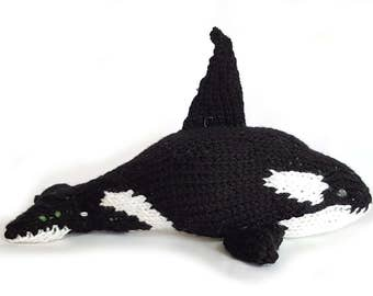 Blackfish the Orca, Knit Toys, Babyswag, Baby Gift, Stuffed Animal, Shower Gift, toddler toy, plush orca, orca softie, cute orca, soft toy
