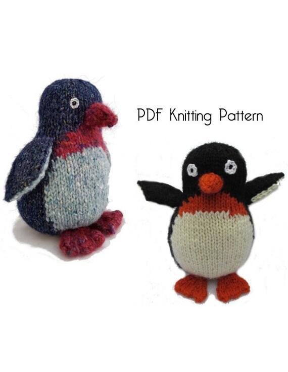 Knitted Penguin Pattern : Knitted Penguin Pattern PDF Pattern Knitting Pattern DIY