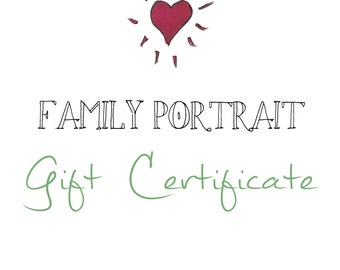 Simple Family Portrait Gift Certificate