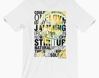 Tribute Bob Marley // Graphic Tee // Reggae T-Shirt // Reggae Wear // Jamaican Shirt // Fathers Day Gift