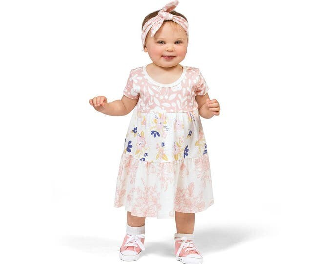 Baby Girl Dress, Baby Toddler Outfit, Baby Girl Pink Floral Dress, Baby Girl Summer Dress, Baby Girl Pink Dress, TesaBabe DR780PPSB0000