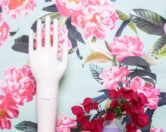 Peony Play REMOVABLE Fabric Wallpaper Tile