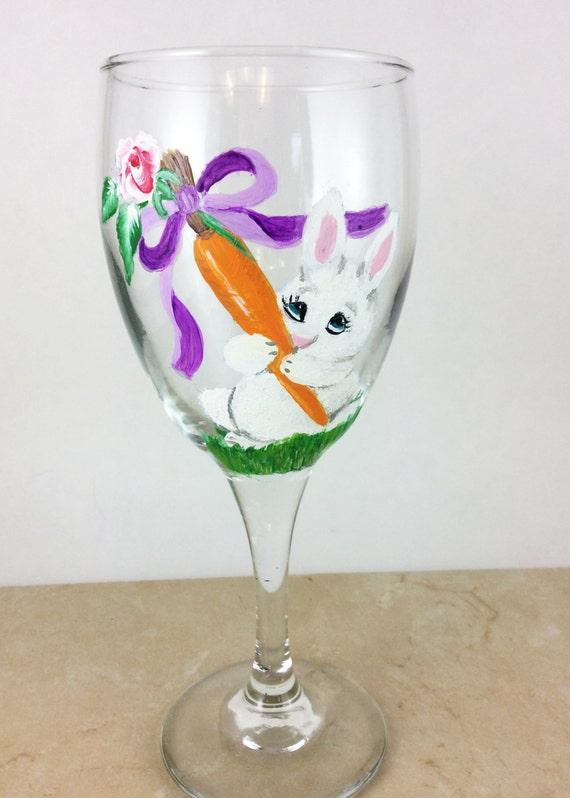 easter wine glasses easter bunny easter glassware easter. Black Bedroom Furniture Sets. Home Design Ideas