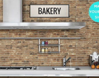 KITCHEN Sign, Bakery Sign, Large Canvas Wall Art, Vintage Home Decor, Kitchen Art, Farmhouse Wall Decor, Industrial Home Decor.