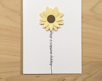 Mother's Day Card, Happy Mother's Day Card, Mothers Day Card, Mother's Day Flower, Card for Mom
