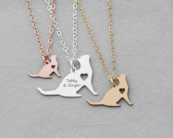 SALE • Kitten Necklace • Kitty Jewelry • Custom Cat Pendant •New Pet •Custom Pet Engraving • Jewelry Animal Lover •Cat Mom •Personalized Pet