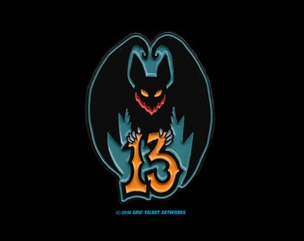 Bat 13 • Soft enamel pin