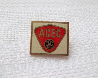 ACEC Pin, Electricity and Lighting Manufacturer Pin, Ateliers de Constructions Electriques de Charleroi, Electricity Pin. vintage ACEC