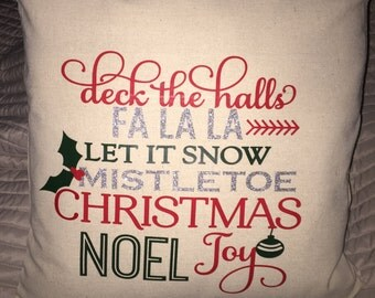 Christmas, Christmas Subway Art Pillow, Pillow Cover, Christmas Pillow, Christmas Decor, Holiday Decor, Holiday Pillow, Christmas gift