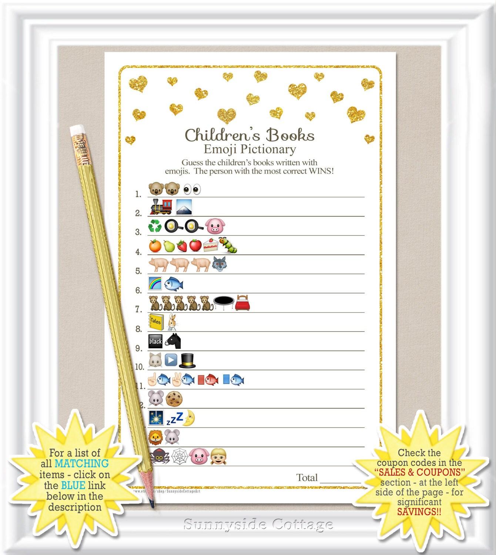 children 39 s books emoji pictionary game baby shower emoji