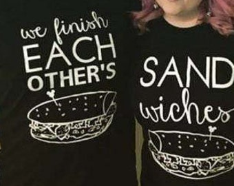 "Disney Frozen Inspired Tshirts T-shirt ""We Finish Each Others Sandwiches, Fun! Princess Anna Prince Hans Song"
